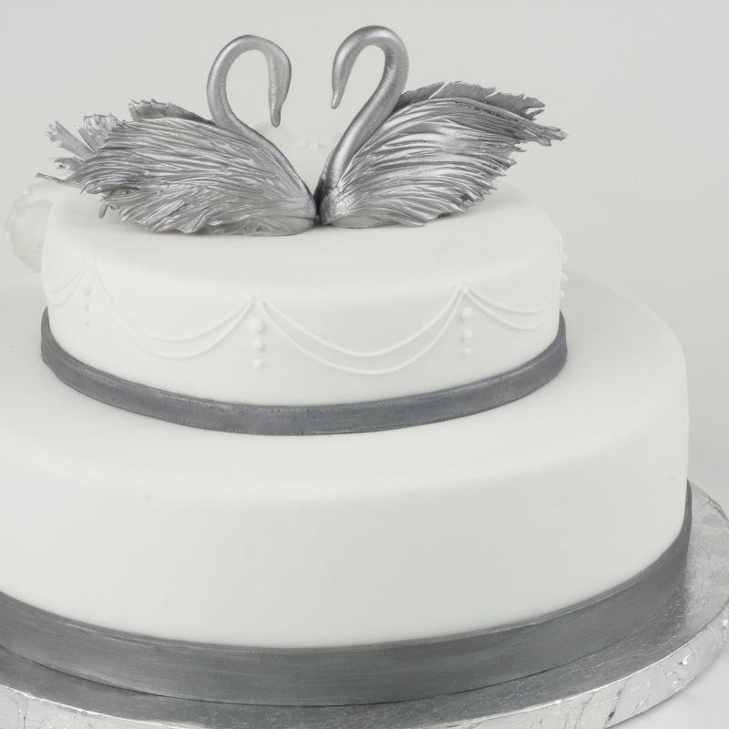 менее серебряная свадьба торты картинки если подать такую