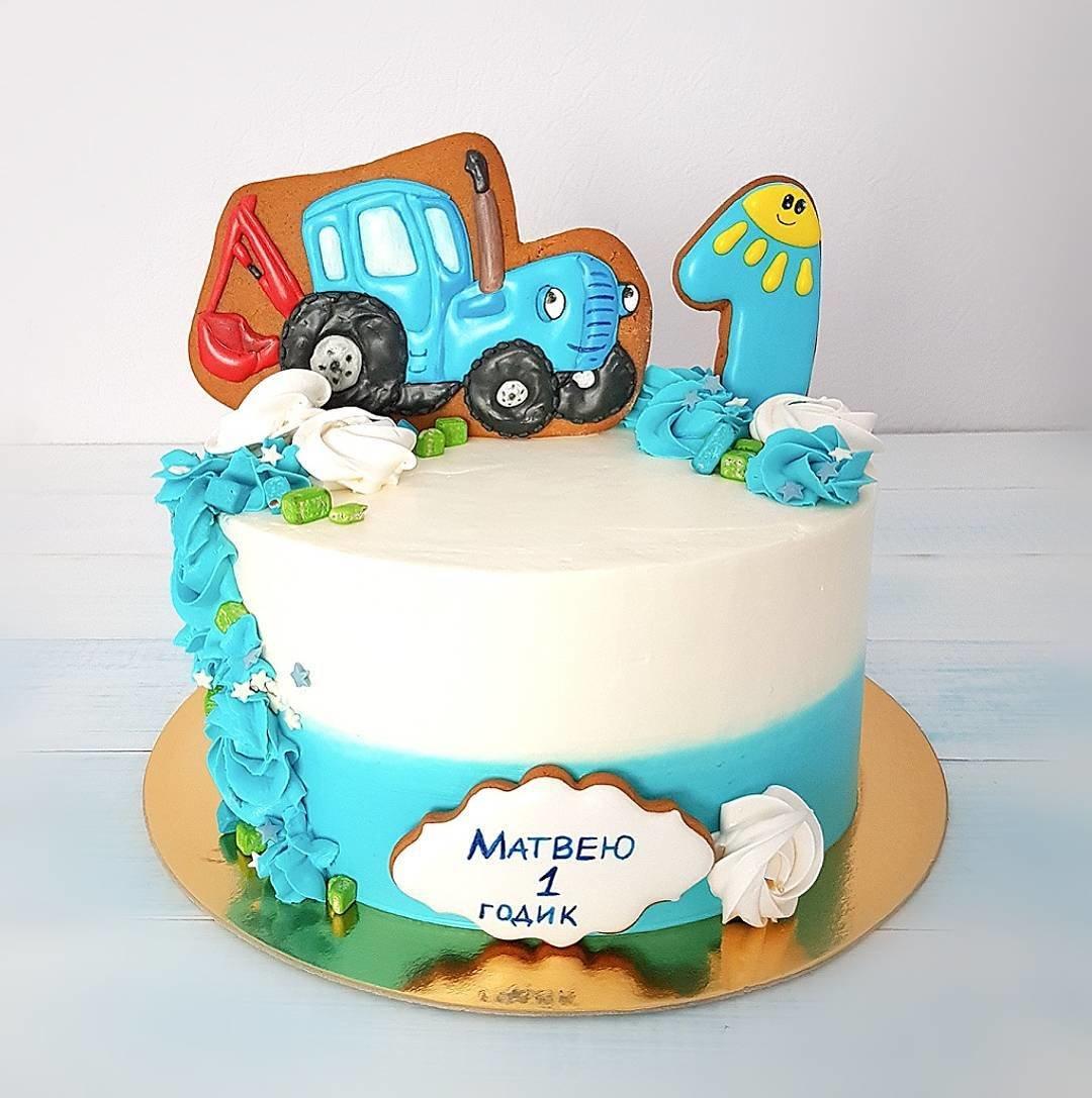 кремовый торт трактор фото